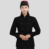 M&S Stylish Chef Coat Ladies's Coat-Black-NA218