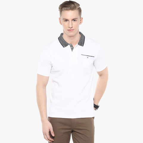 George Casual Polo For Men Cut Label-White-BE679