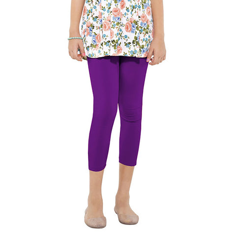 Stylish Three Quarter Capri For Ladies -Purple- BE1063