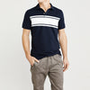brandsego - GAP Short Sleeve P.Q Polo Shirt For Men-Dark Navy & White-NA8326