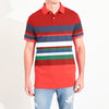GAP Short Sleeve P.Q Polo Shirt For Men-Multi Striped-NA7980