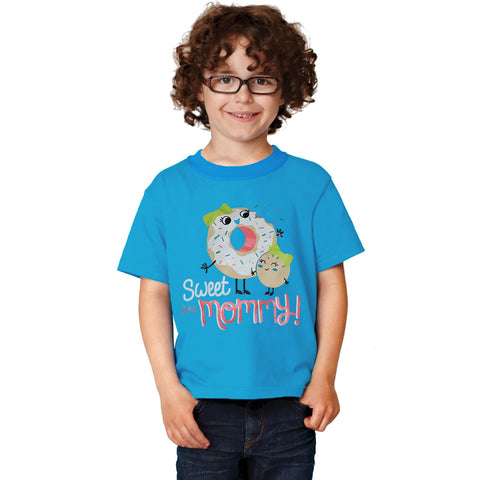Fassion Crew Neck T Shirt For Boys-Sky Blue -BE810