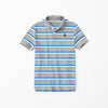 Gap Half Sleeve Single Jersey Polo Shirt For Kids-Blue & White Striper-NA8285
