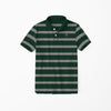 brandsego - Gap Half Sleeve Single Jersey Polo Shirt For Kids-Grey & Green Striper-NA8286