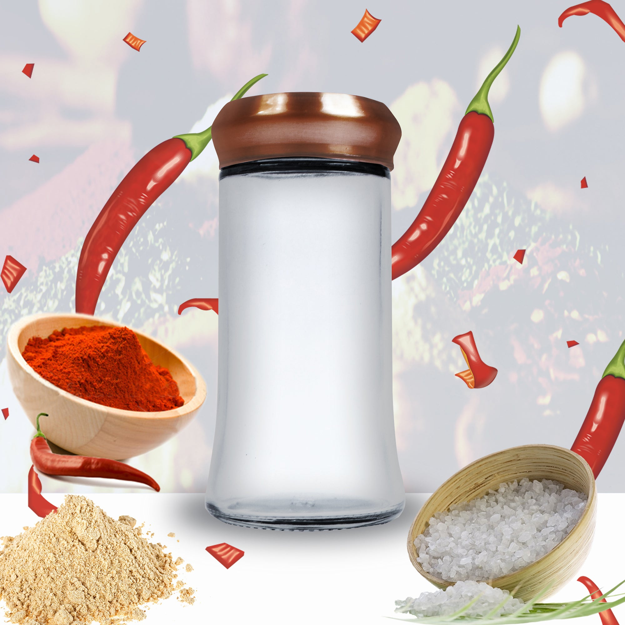 Glass Spice Jar-NA10389