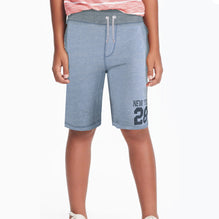 NEXT Fleece Short For Boys-Light Sky Melange-BE2802