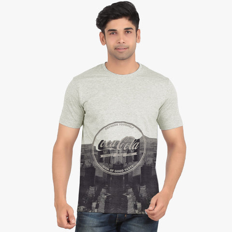 Fat Face Half Sleeve Crew Neck T Shirt For Men-Gray Melange-BE858