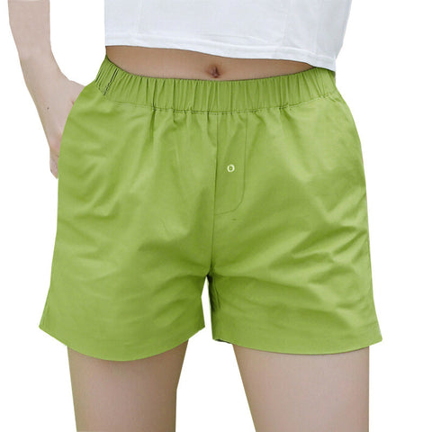NEXT Cotton Short For Ladies-Green-BE1012