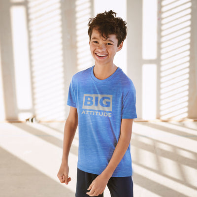 brandsego - H&M Crew Neck Single Jersey Burnout Wash Tee Shirt For Kids-Blue-NA8710