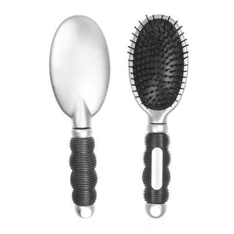 Hair Brush-Silver-NA1368
