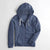 Henry James Single Jersey Zipper Hoodie For Man-Blue Melange-NA6349