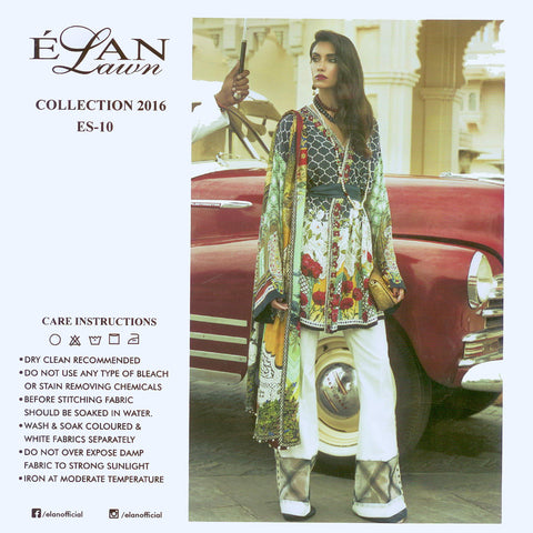 "Ladie's ""Elan Lawn Collection"" 3 Piece Unstitched Suit-GLA10"