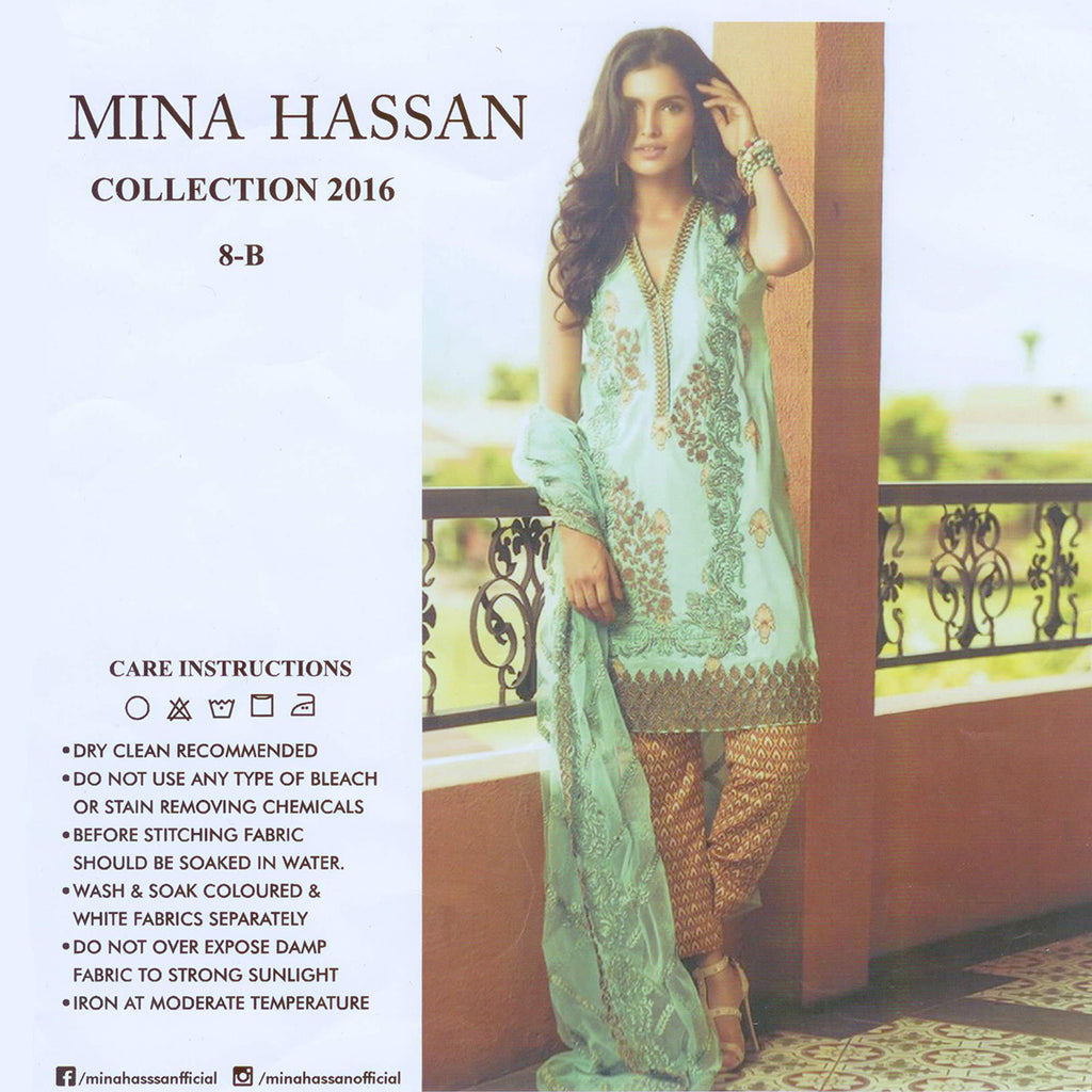 "Ladie's ""Mina Hassan"" 3 Piece Unstitched Suit-GLA09"