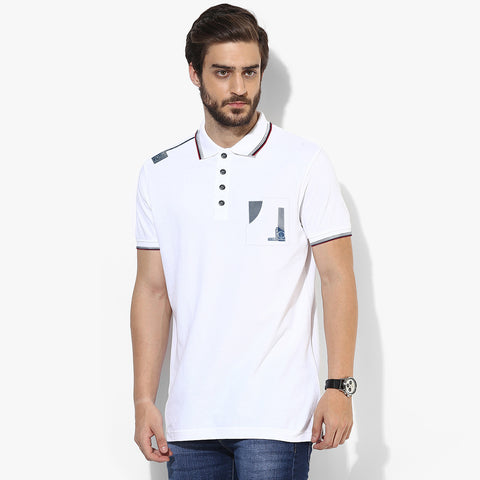 George Casual Polo For Men Cut Label-White-BE682