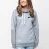 NK Terry Fleece Embroided Pullover High Neck Hoodie For Ladies-Ice Mint-SP1333