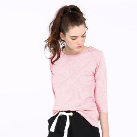 Janina Stretch Long Sleeve Blouse For Ladies-Light Pink-NA5940
