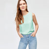 Janina Stretch Sleeve Less Blouse For Ladies-Sea Green-NA5883