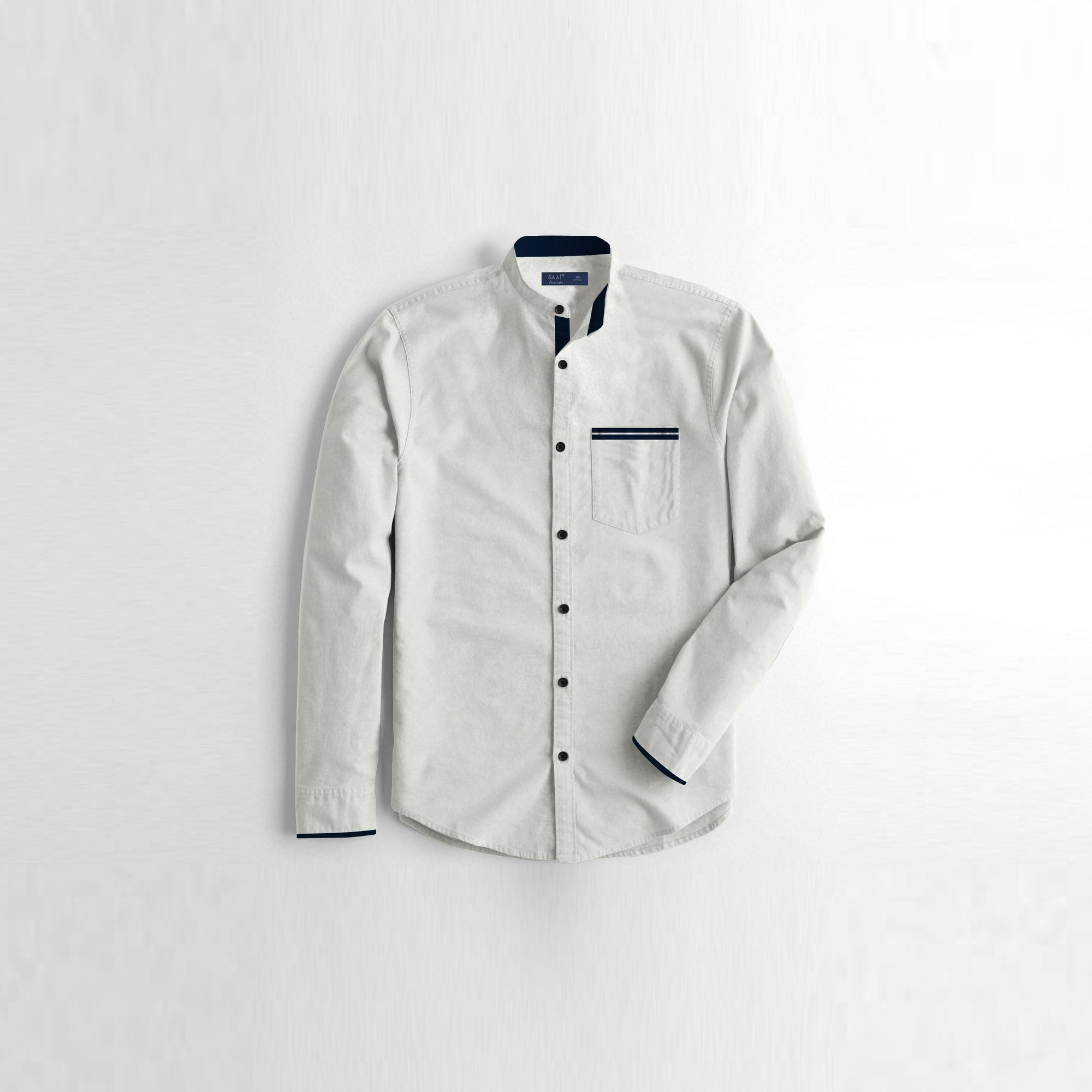 Junior Premium Slim Fit Casual Shirt For Boys-White-NA7968