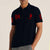 US Polo Muscle Fit Stylish Fashion Shirt For Men-Dark Navy With Red Embroidery-NA10993