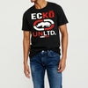 ECKO Crew Neck Single Jersey Half Sleeve Tee Shirt For Men-Black-NA8447