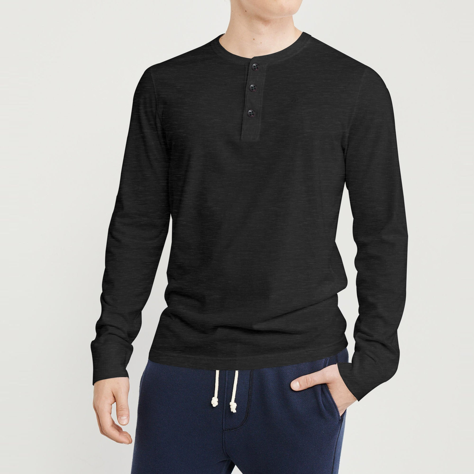 brandsego - Beverly Hills Henley Full Sleeve Tee Shirt For Men-SP112