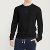 Beverly Hills Single Jersey Long Sleeve Tee Shirt For Men-Charcoal With Melange-SP403