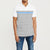 brandsego - Banana Republic Short Sleeve P.Q Polo Shirt For Men-White With Grey & Blue Stripe-NA8090