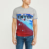 New York Enyce Crew Neck Single Jersey T Shirt For Men-Grey & Blue Panel-NA8878