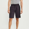 Next Summer Terry Jersey Short For Men-Dark Maroon Melange & Black-BE8838