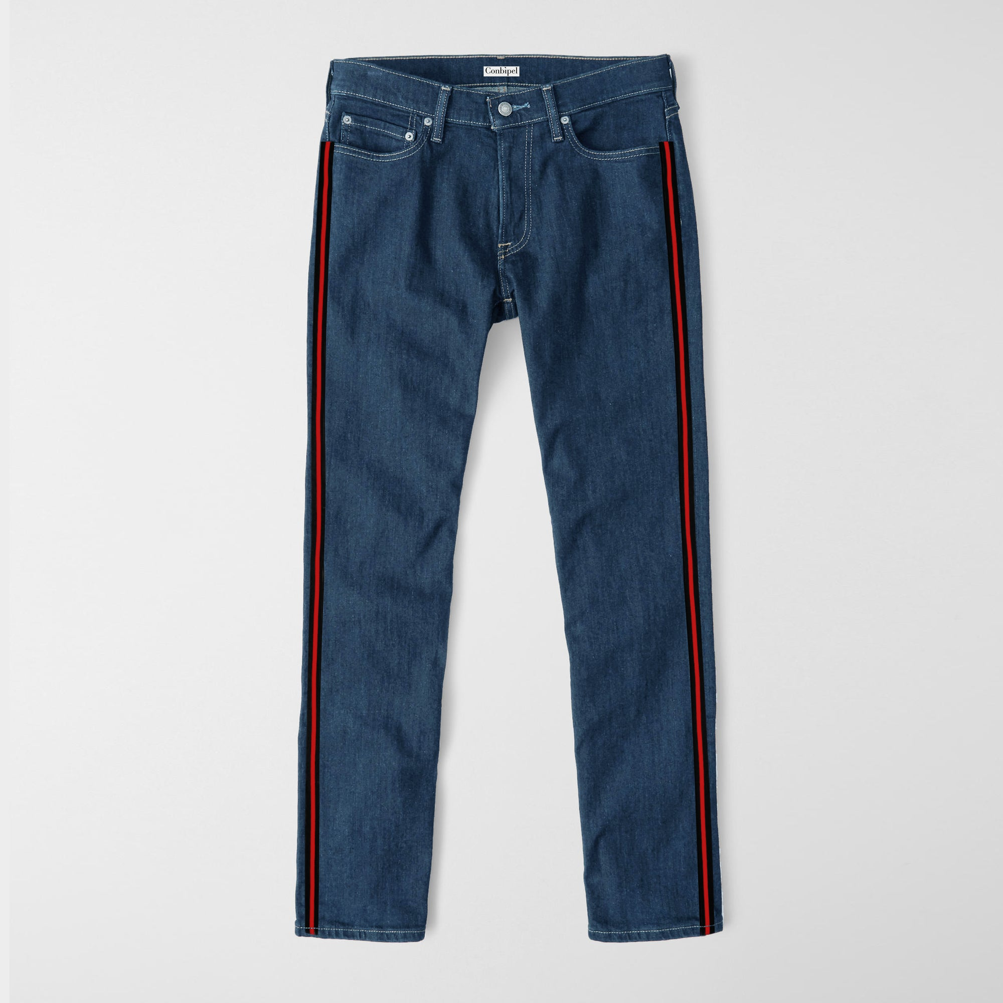Hero Slim Fit Non Stretch Side Stripe Denim For Men-(S10)-Blue-NA9402