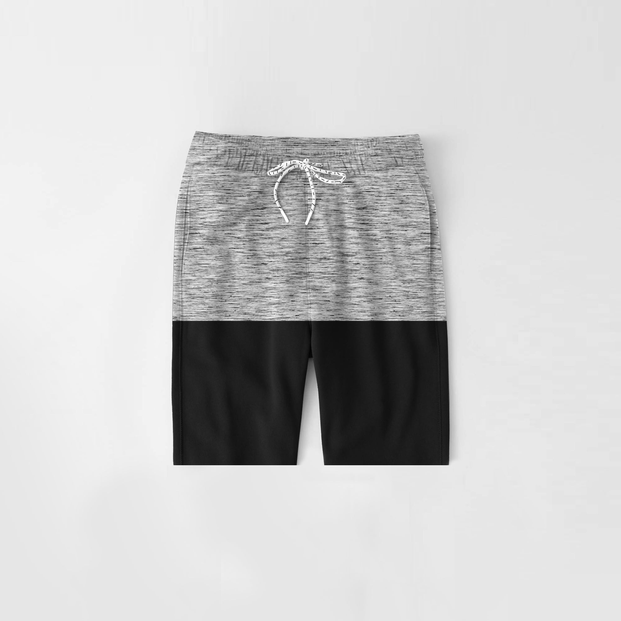 Diesel Summer Short For Kids-Grey Melange & Black-NA11274