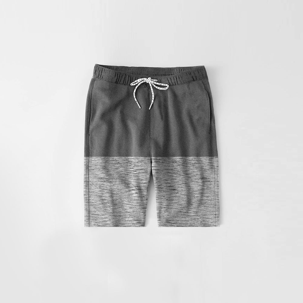 Diesel Summer Short For Kids-Dark Grey Melange & Grey Melange-NA11270