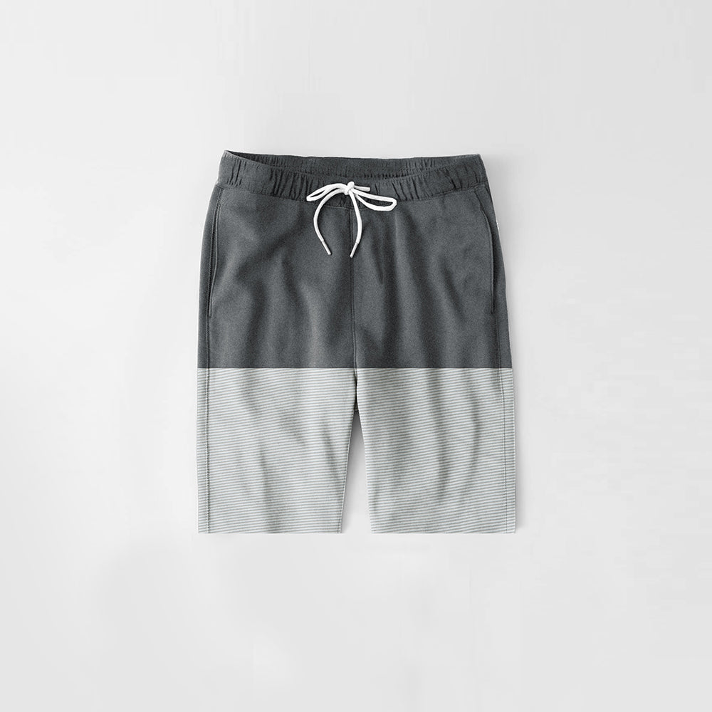 Diesel Summer Short For Kids-Dark Grey Melange & Grey Lining-NA11271