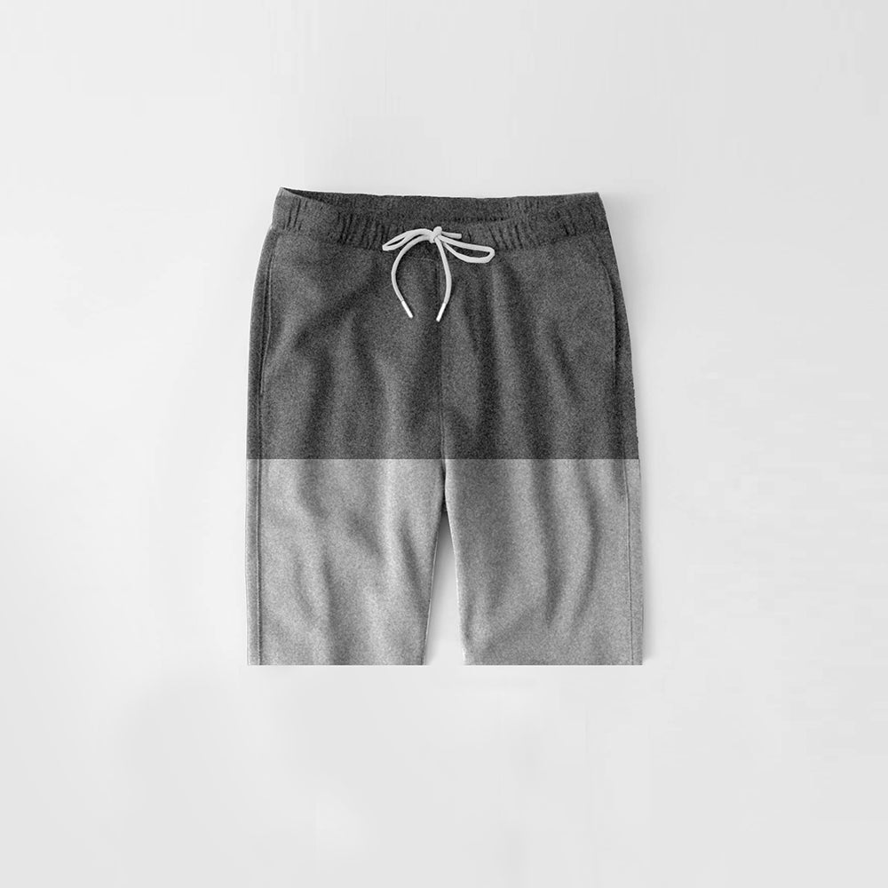 Diesel Summer Short For Kids-Light Grey Melange & Dark Grey Melange-NA11291