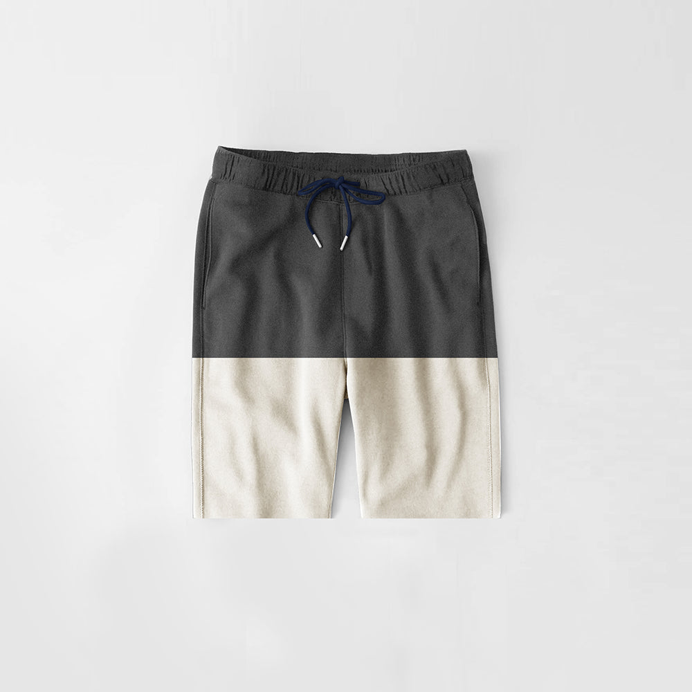 Diesel Summer Short For Kids-Dark Grey Melange & Off White Melange-NA11279