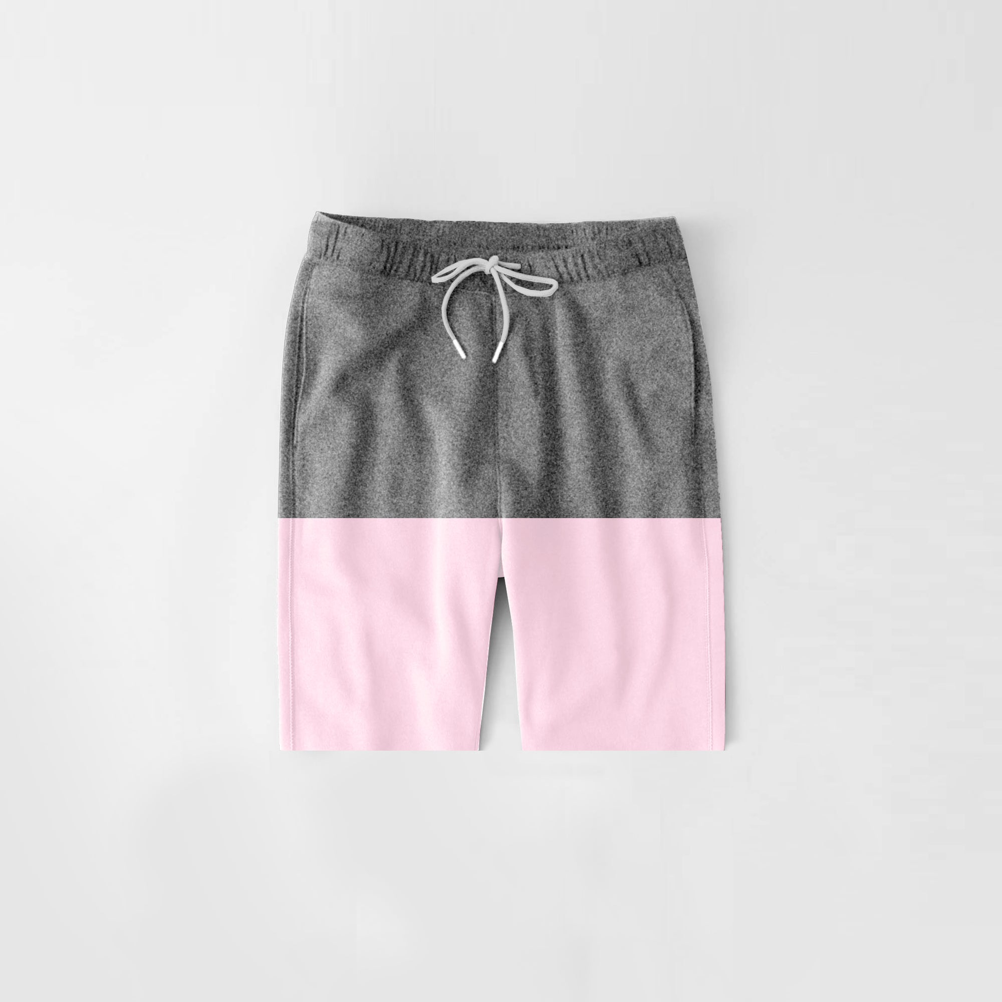 Diesel Summer Short For Kids-Dark Grey Melange & Light Baby Pink-NA11294