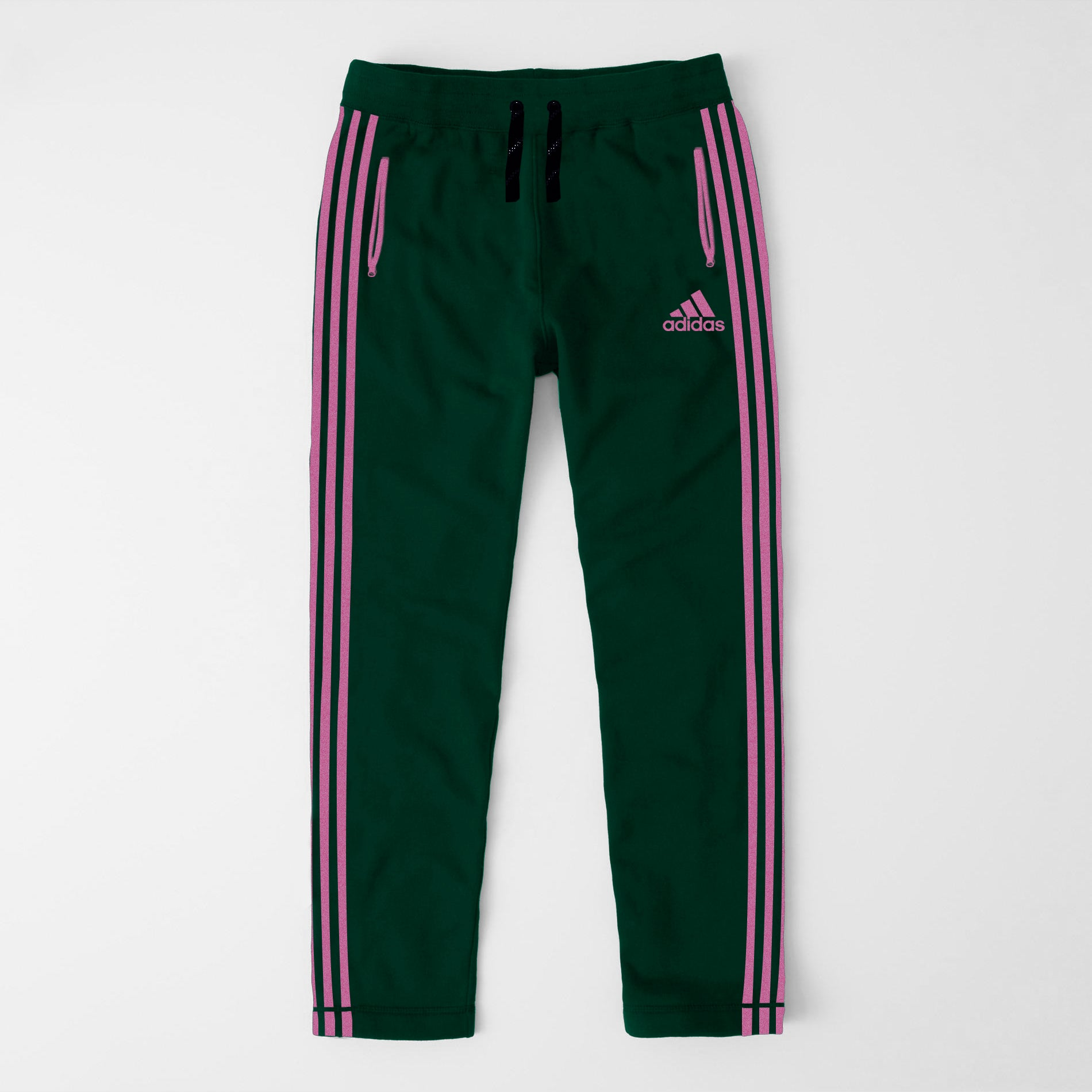 Adidas Single Jersey Regular Fit Jogger Trouser For Men-Green With Light Pink Stripes-NA8345