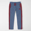 Adidas Single Jersey Regular Fit Trouser For Men-Bord Blue With Red Stripes-SP362