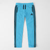 Adidas Single Jersey Regular Fit Trouser For Men-Light Sky With Black Stripes-SP453