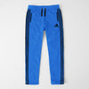 Adidas Single Jersey Regular Fit Trouser For Men- Blue With Black Stripes-SP380