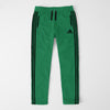 Adidas Single Jersey Regular Fit Trouser For Men-Green With Black Stripes-SP461