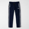 Adidas Single Jersey Regular Fit Trouser For Men-Dark Navy With Grey Stripes-SP463