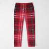 brandsego - Zara Man Slim Fit Flannel Trouser For Men-Red With Allover Print-SP410