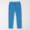 Adidas Single Jersey Regular Fit Trouser For Men-Sky Blue With Light Purple Stripes-SP385