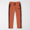 Adidas Single Jersey Regular Fit Trouser For Men-Orange With Black Stripes-SP460