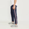 Adidas Single Jersey Regular Fit Jogger Trouser For Men-Purple Melange With Pink & Black Stripe-BE8787