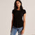 Miss Popular Half Sleeve Viscous Tee Shirt For Women-Black-NA11139
