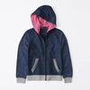 Tommy Hilfiger Quilted Zipper Hoodie For Kids-Navy & Grey Melange-BE10586