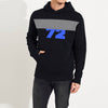 Next Fleece Pullover Hoodie For Men-Dark Navy With Grey Melange Panel-SP1630