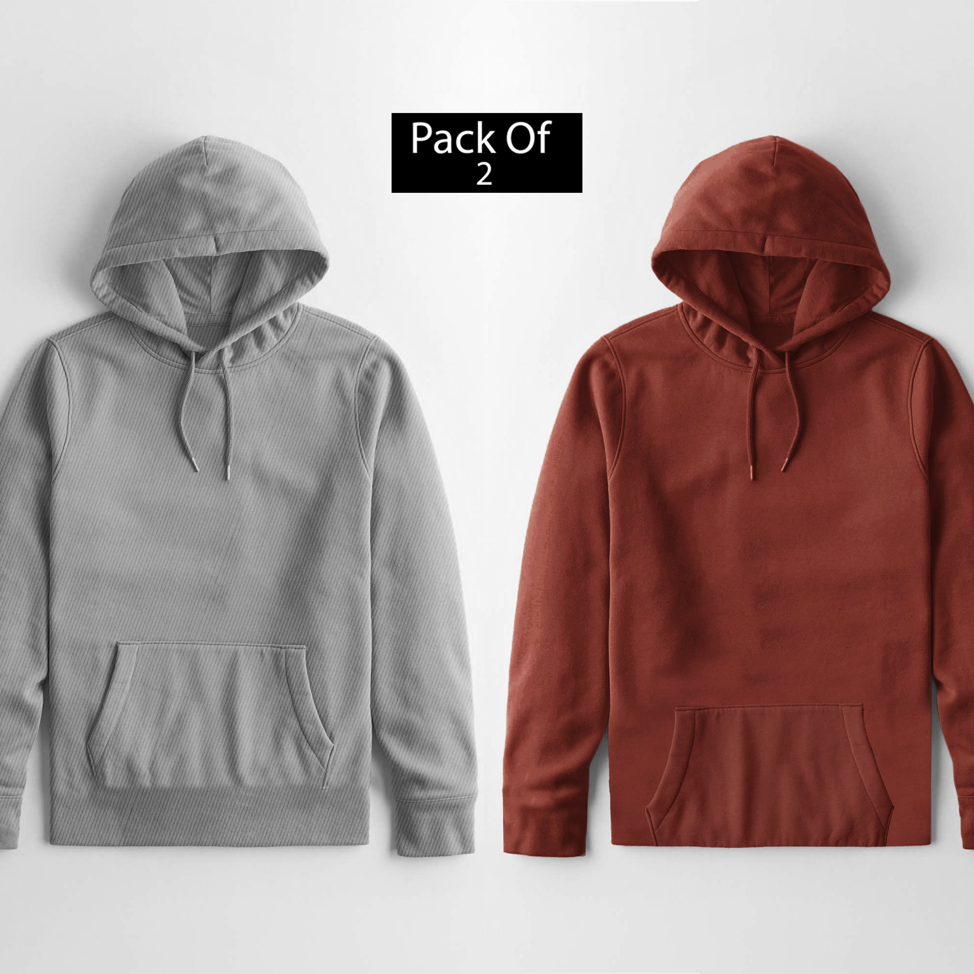 Pack Of 2 Premium Quality Pullover Hoodie For Ladies-SP4596